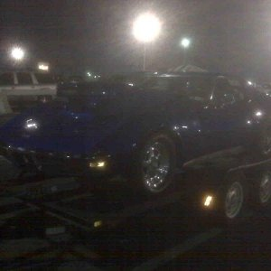 my friends 8 second stingray at the track...incredible!
