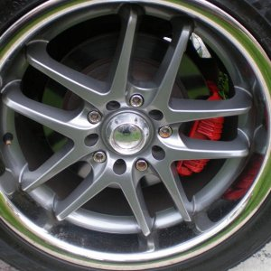my rims right after the calipers where painted.