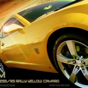 GTM's 2010 2SS/RS Rally Yellow Camaro (Before)