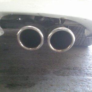 New exhaust. Right hand side view