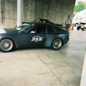 Tom Egans 944 Turbo that we installed a LT1 and installed a wide body kit and painted all over