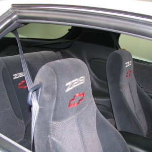 Interior showing Z28 emblems