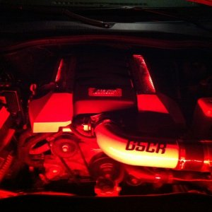 Under Hood and engine cover lighting.